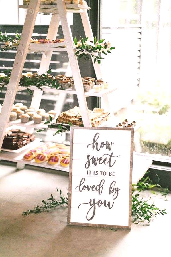 20 Super Sweet Wedding Dessert Display and Table Ideas Dessert bars are a wildly popular choice for
