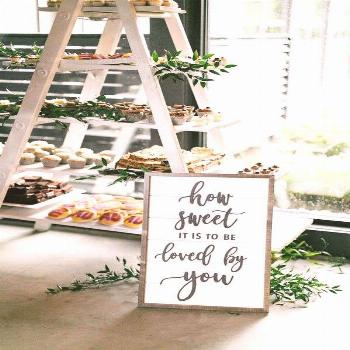 20 Super Sweet Wedding Dessert Display and Table Ideas - -