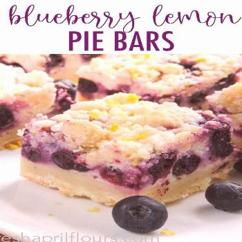 Blueberry Lemon Pie Bars Creamy and sweet pie bursting with blueberries and citrusy lemon on top of