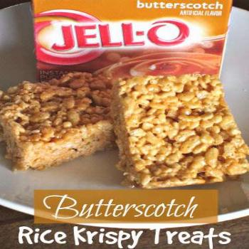 Butterscotch Rice Krispie Treats - Sugar n' Spice Gals