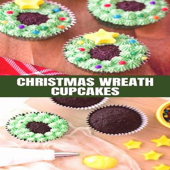 Christmas Wreath Cupcakes are a sweet treat everyone will love this merry season. They're a festive