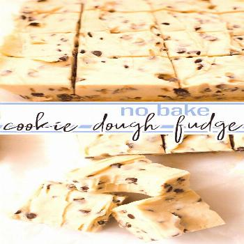 Cookie Dough Fudge No bake, eggless Cookie Dough flavored FUDGE! A cross between Cookie Dough and c