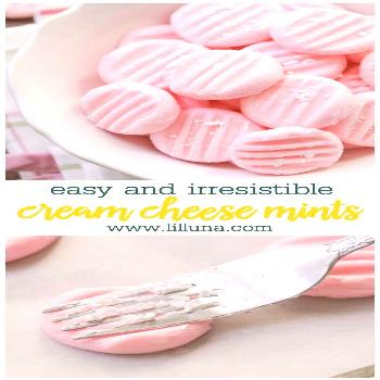 Cream cheese mints are the best little treat—popular for weddings, at baby showers, and in candy