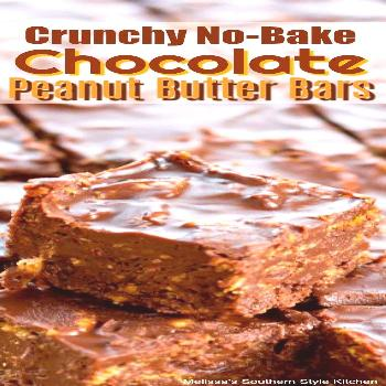 Crunchy No-Bake Chocolate Peanut Butter Bars