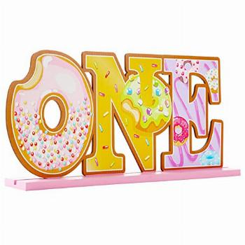 Donut One Sign 1st Birthday Party Dount Table Centerpieces