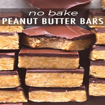 Easy homemade Chocolate Peanut Butter Cup Bars made with only 5 ingredients. Cut Easy homemade Choc