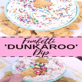 Funfetti 'Dunkaroo' Dip - Kathryn's Kitchen This delicious Funfetti 'Dunkaroo' Dip is made with onl