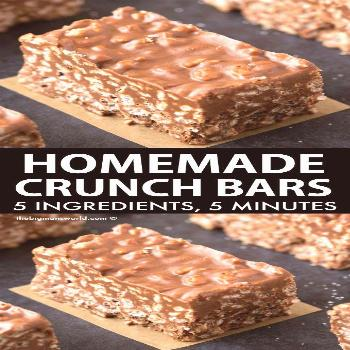 Homemade Crunch Bars (Award Winning Recipe!)