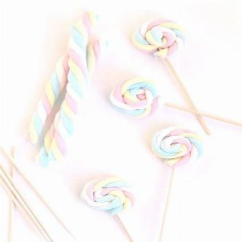 I adore these marshmallow ropes wrapped up into lollipops