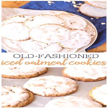 Iced Oatmeal Cookies Recipe | Lil' Luna Old Fashioned Iced Oatmeal Cookies are perfectly textured w