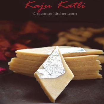 Kaju katli is a popular Indian sweets recipe . It is a very delicious fudge prepared with sugar and