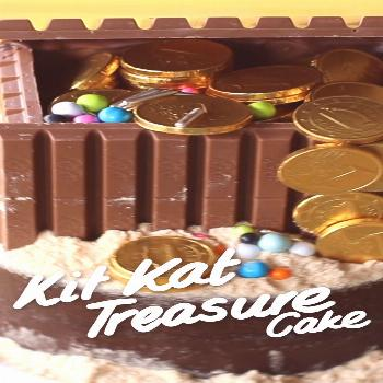 Kit Kat Treasure Cake Honestly, is there any treasure greater than chocolate? Loaded with Kit Kats