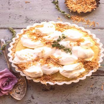 Lemon Sugar Coconut Cream Pie. Lemon Sugar Coconut Cream Pie with a slight lemony twist. Every bite