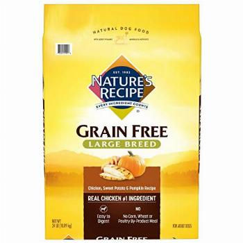 Nature's Recipe Grain Free Large Breed Dry Dog Food Chicken