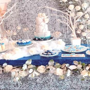 New #sweetsixteenparty If you love winter wonderland land decor y