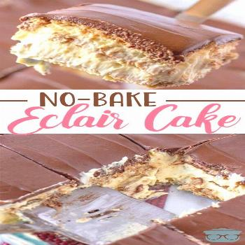 No-Bake Eclair Cake No-Bake Eclair Cake is a dessert that is layers of flavor: graham crackers, ins