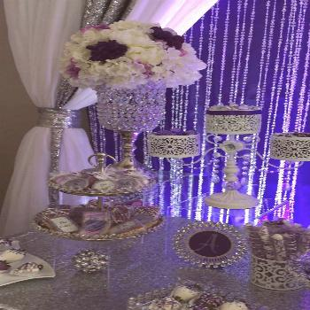 Purple Wedding Sweets Table