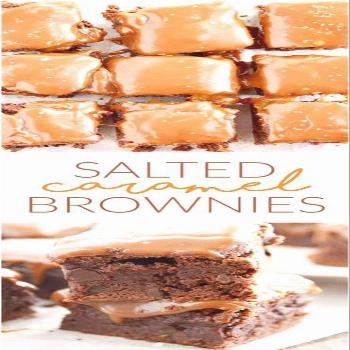 Salted Caramel Brownies - Something Swanky