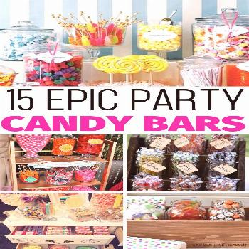 Serve up sweet treats in style with one or more of these super cute and clever candy bar party idea