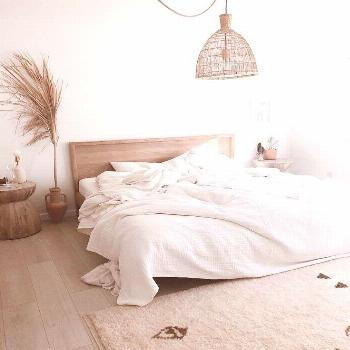 Simple Home Decor morning light in a natural neutral bedroom Home Decor  morning light in a natural