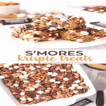 S'mores Krispie Treats have all the flavors of traditional s'mores made into an easy no-bake su
