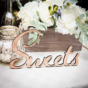 Sweets Sign Wedding Sign for Dessert or Cake Table, Candy