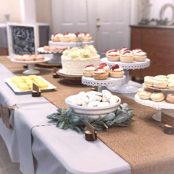 Sweets table for my future sister-in-law's bridal shower! #sweets