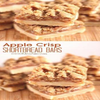 The BEST Apple Crisp Shortbread Bars Recipe - Sober Julie