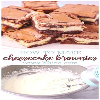 These cheesecake brownies are next level, with a delicious cream cheese and white chocolate layer s
