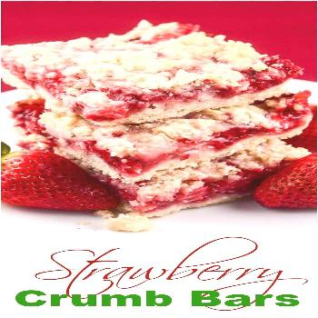 These easy Strawberry Crumb Bars, with a buttery crust, sweet fresh strawberry filling, and crunchy