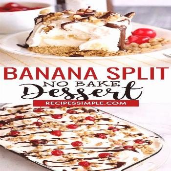 This easy No Bake Banana Split Dessert Recipe combines all the flavors of a classic banana split fo