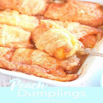 This quick and easy recipe for Peach Dumplings are the perfect way to enjoy those summer peaches!