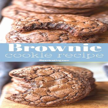 Ultimate brownie cookie recipe! Rich and fudgy middles with soft, chewy edges.