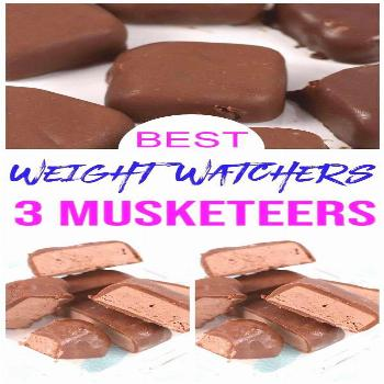 {Weight Watchers Chocolate Recipe} Easy simple Candy Bars.Copycat 3 Musketeers candy bars.  Weight