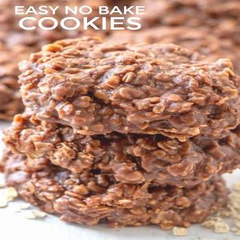 With minimal ingredients and 30 minutes these Easy No Bake Cookies are the perfect go to snack that