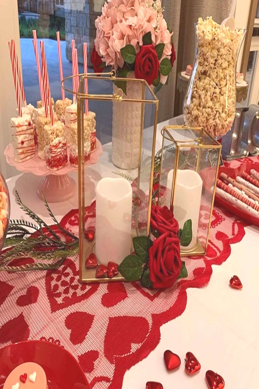 A beautiful set-up Valentine's Day Treat Table Thank you for coll