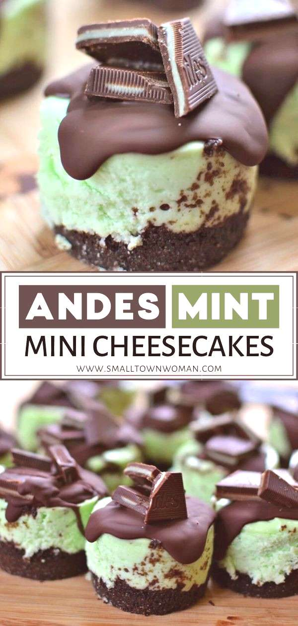 Andes Mint Mini Cheesecakes Andes Mint Mini Cheesecakes are the perfect make-ahead holiday dessert