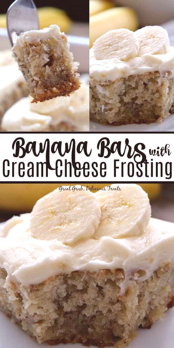 Banana Bars with Cream Cheese Frosting Banana Bars with Cream Cheese Frosting are extremely moist a