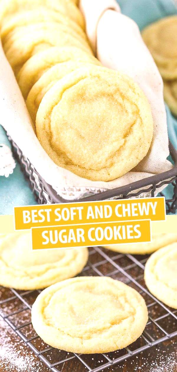 Best Soft and Chewy Sugar Cookies!