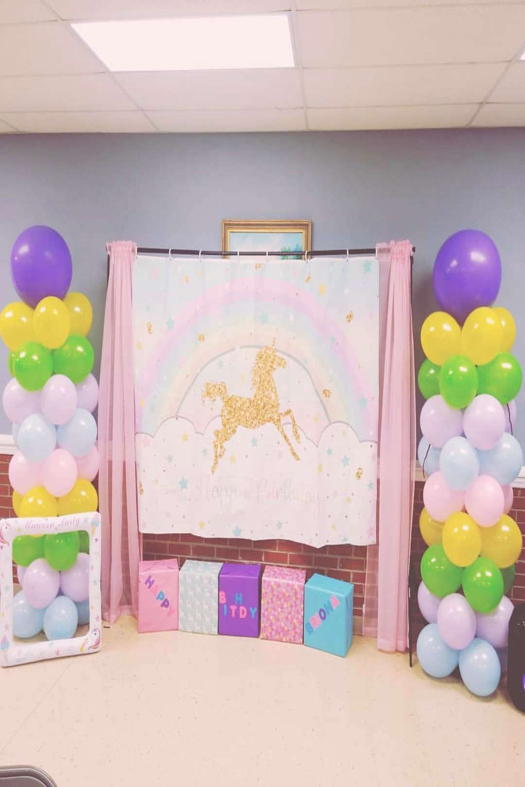Briona's Unicorn birthday party was a success. Shout out to for t