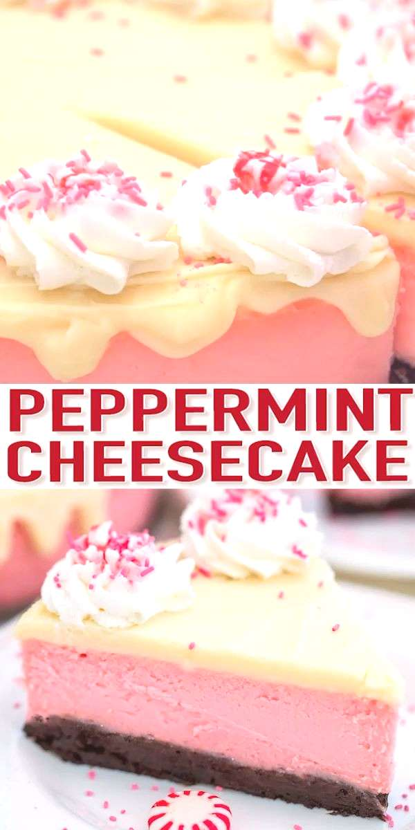 Brownie Peppermint Cheesecake (Video) - Sweet and Savory Meals Peppermint Cheesecake is the most fe