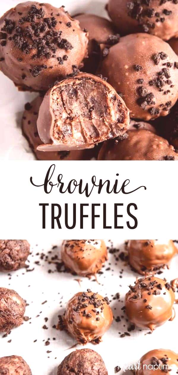 Brownie Truffles - An easy sweet treat made with just 3 simple ingredients. These delicious brownie