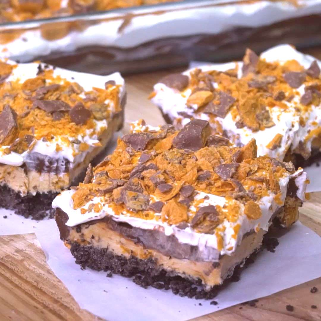 Butterfinger Lush You won't find a more delicious dessert than this cool and creamy Butterfinger Ch