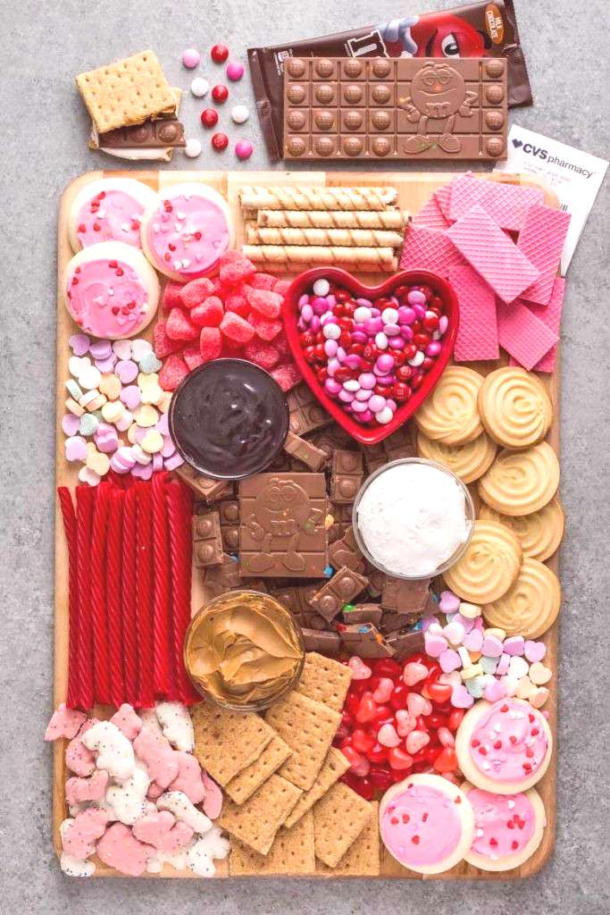 Celebrate Galentines day with a tasty and festiveGalentines Day Dessert Charcuterie filled with
