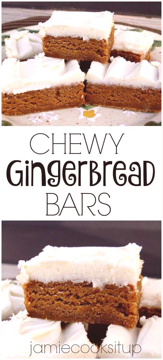 Chewy Gingerbread Bars | Jamie Cooks It Up - Family Favorite Food and Recipes