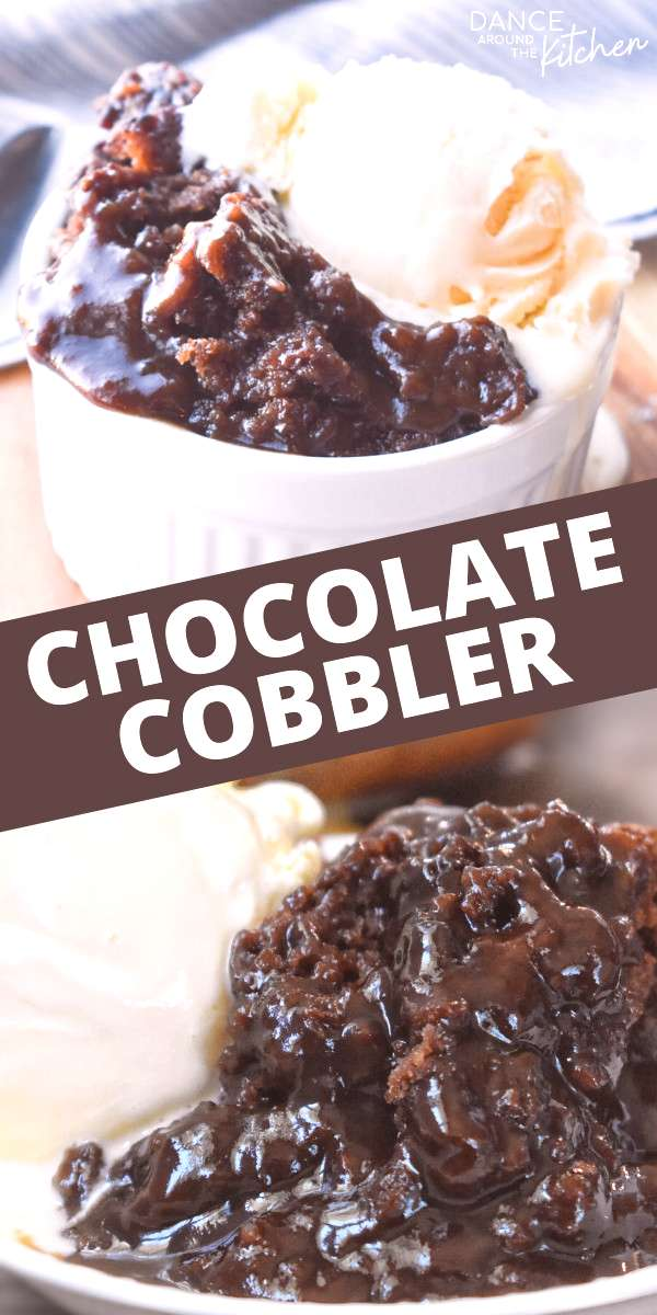 Chocolate Cobbler This quick dessert has a warm, fudgy pudding covered with a moist chocolate cake.