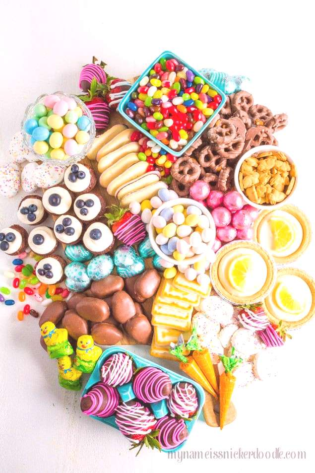 Easter Candy Snack Board is perfect for the holiday. Not just one dessert, but a little bit of ever
