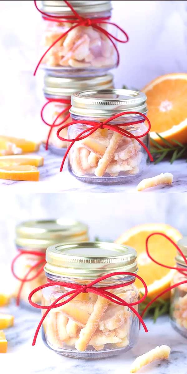 Easy Candied Orange Peel Recipe – very easy to make, great for snack, garnish and baking. Perfect