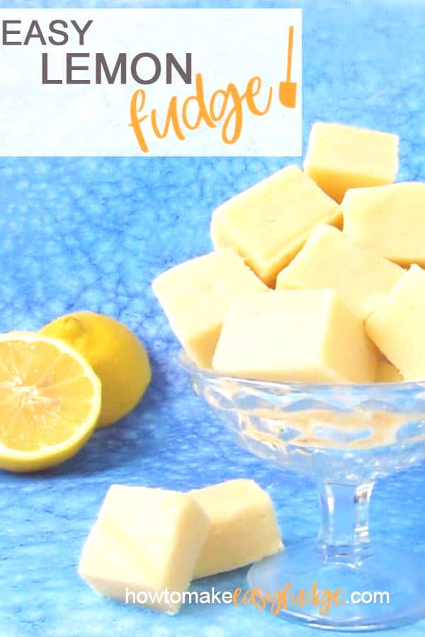 Enjoy the creamiest lemon fudge! Its so easy to make in the microwave using just 2 ingredients.