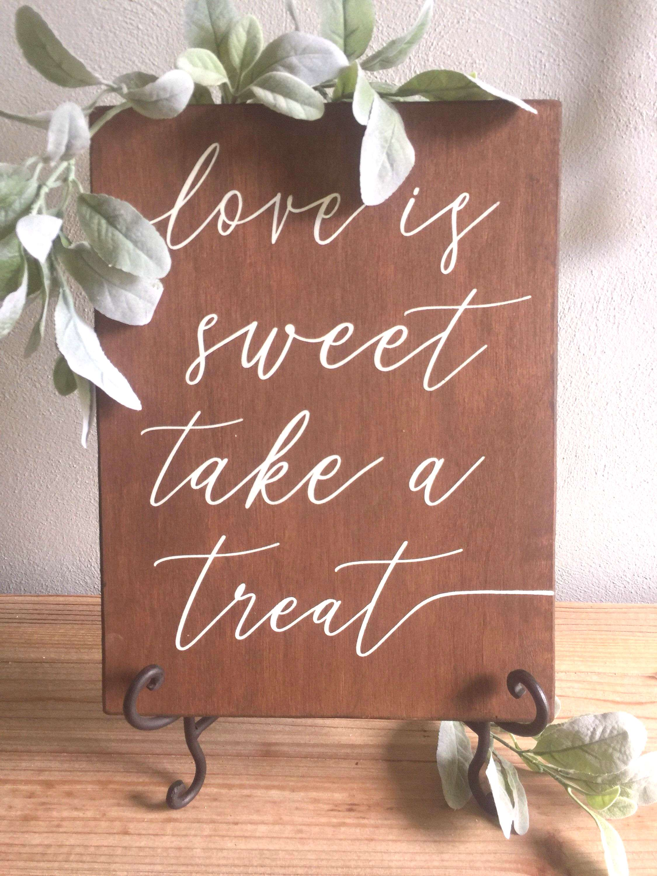 Excited to share this item from my shop: love is sweet sign, wedding dessert table, wedding favors